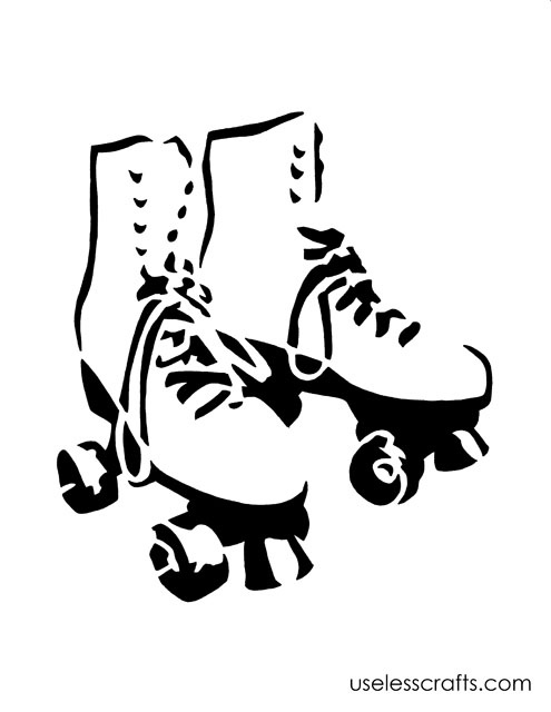 495x640 Roller Skating Clipart Black And White Collection