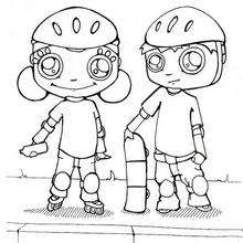220x220 Roller Skating Coloring Pages
