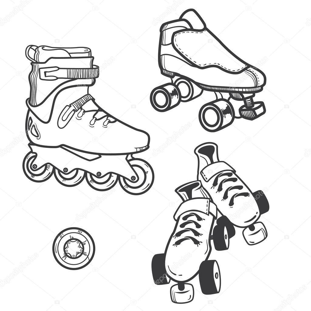1024x1024 Roller Skate Stock Vector Ty4ina