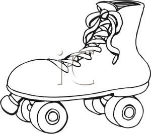 300x267 Skates Clipart Black And White