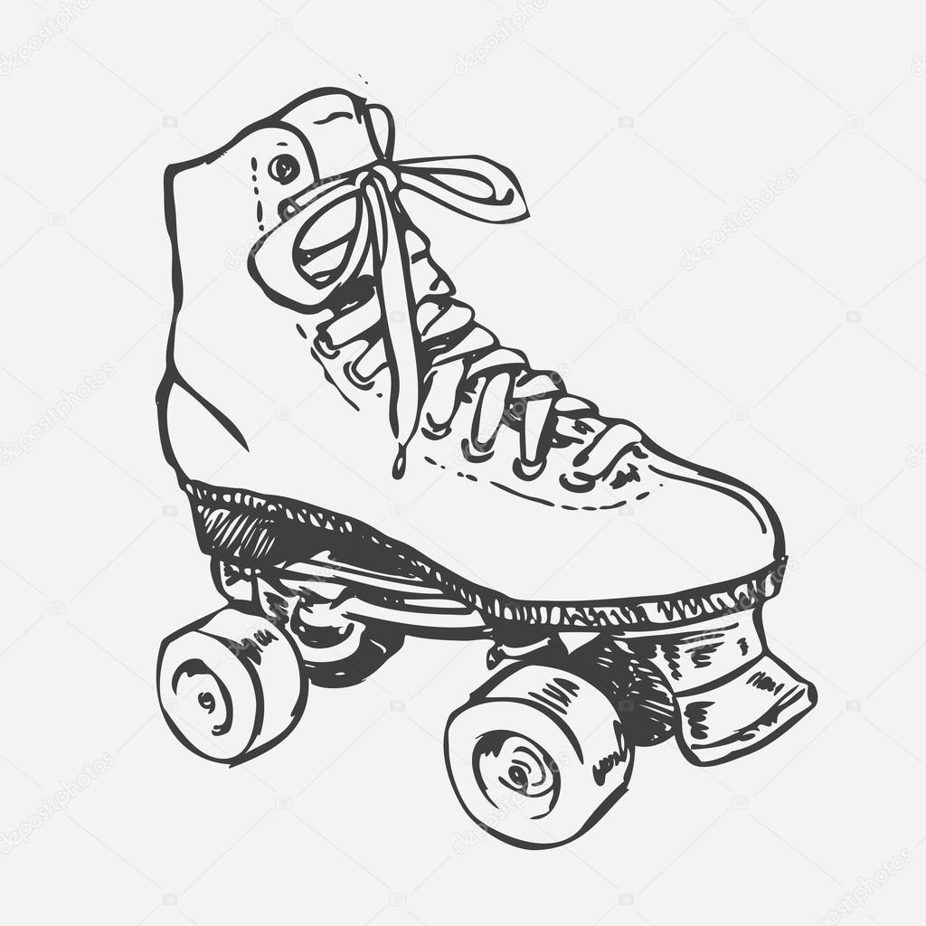 1024x1024 Vintage Roller Skates