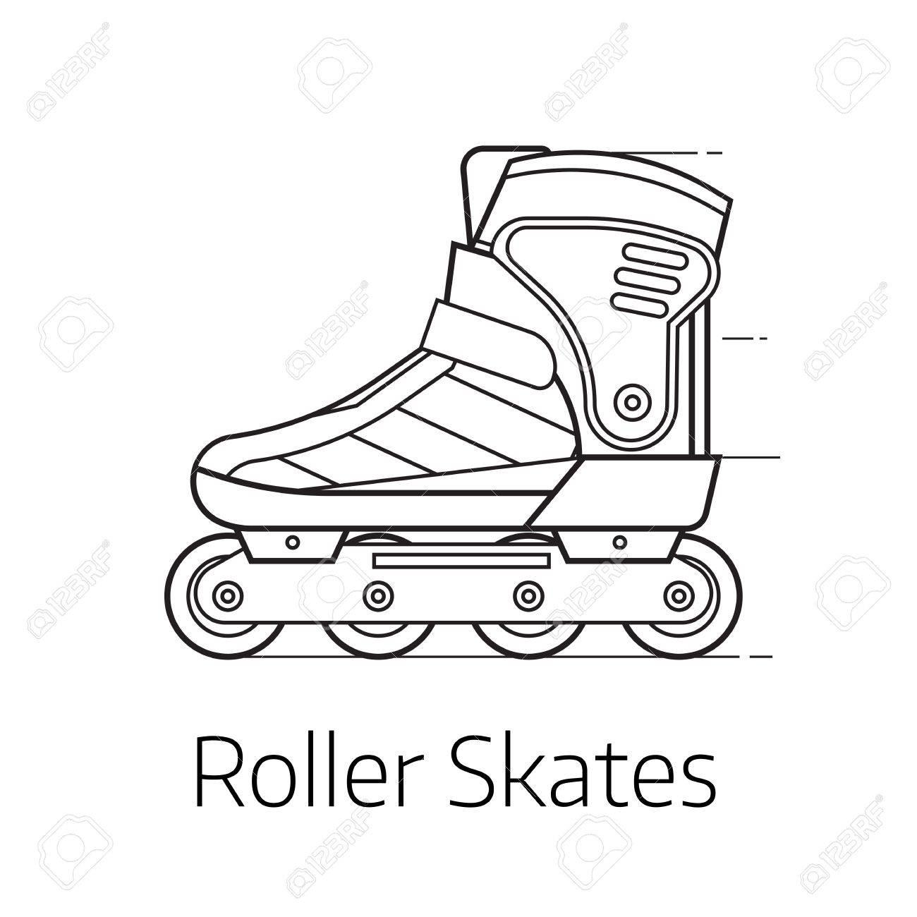 1300x1300 Modern Roller Skates Vector Illustration. Alternative City
