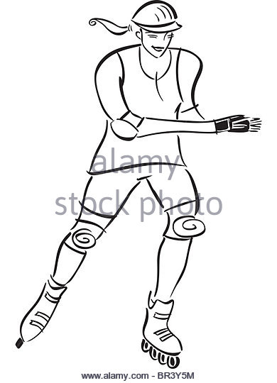 390x540 Rollerblades Outline Stock Photos Amp Rollerblades Outline Stock