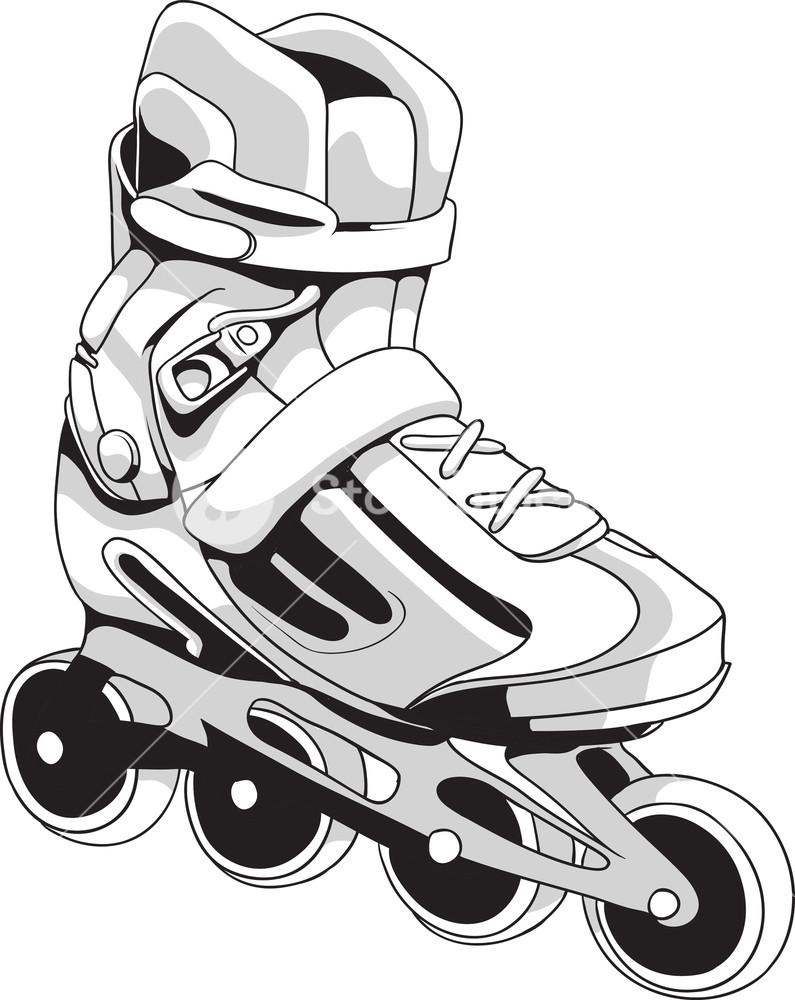 795x1000 Vector Rollerblades Royalty Free Stock Image