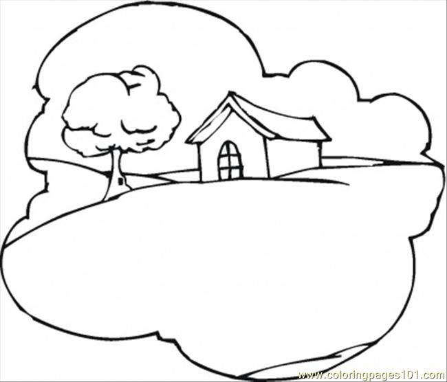 650x556 Hill Coloring Pages