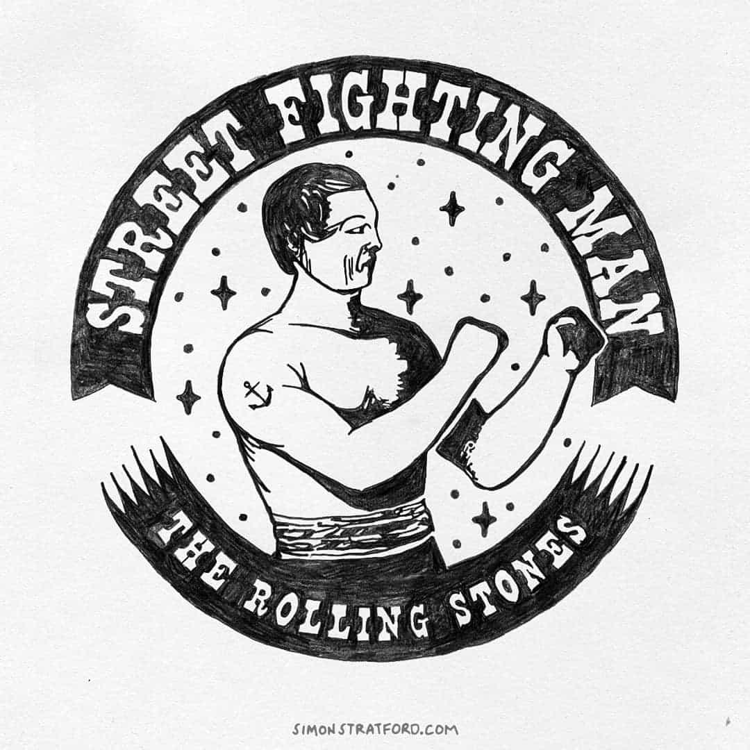 1080x1080 Street Fighting Man A Rolling Stones Illustration Simon Stratford