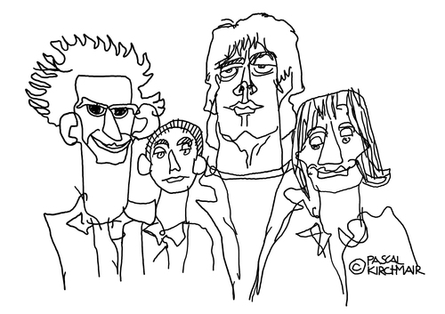 500x353 The Rolling Stones By Pascal Kirchmair Famous People Cartoon