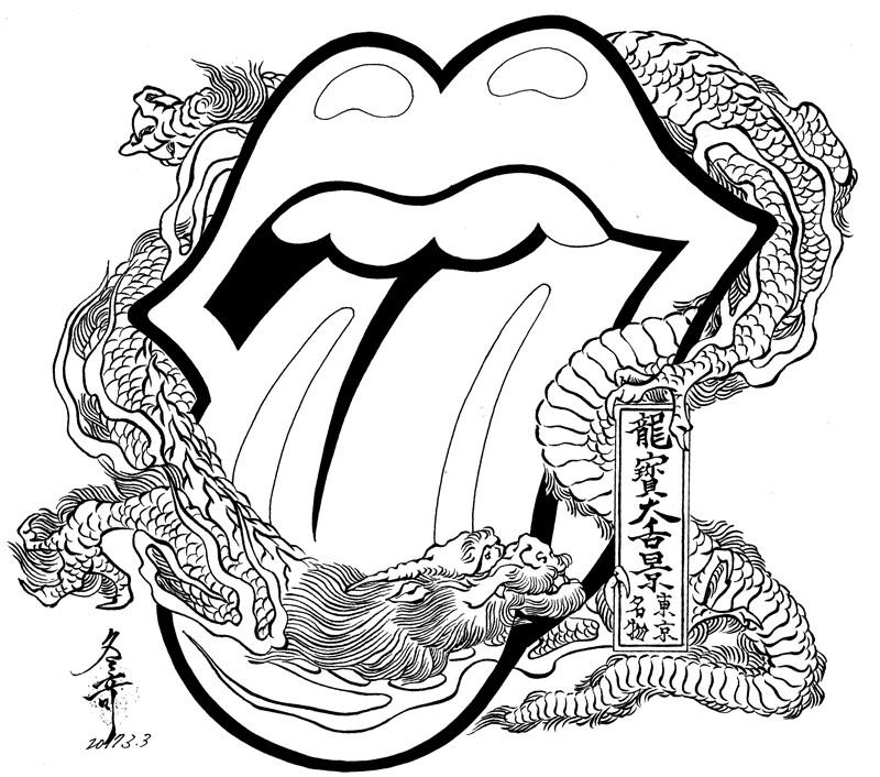 800x706 The Rolling Stones X Japanese Traditional Woodblock Prints