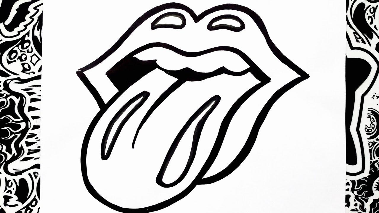 1280x720 Como Dibujar El Logo De Los Rolling Stones How To Draw Rolling