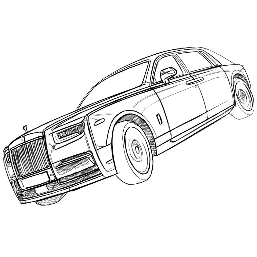 Rolls Royce Drawing At Getdrawings Com