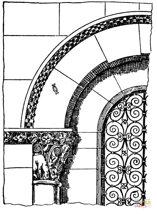 548x750 Roman Arch Coloring Page Free Printable Coloring Pages