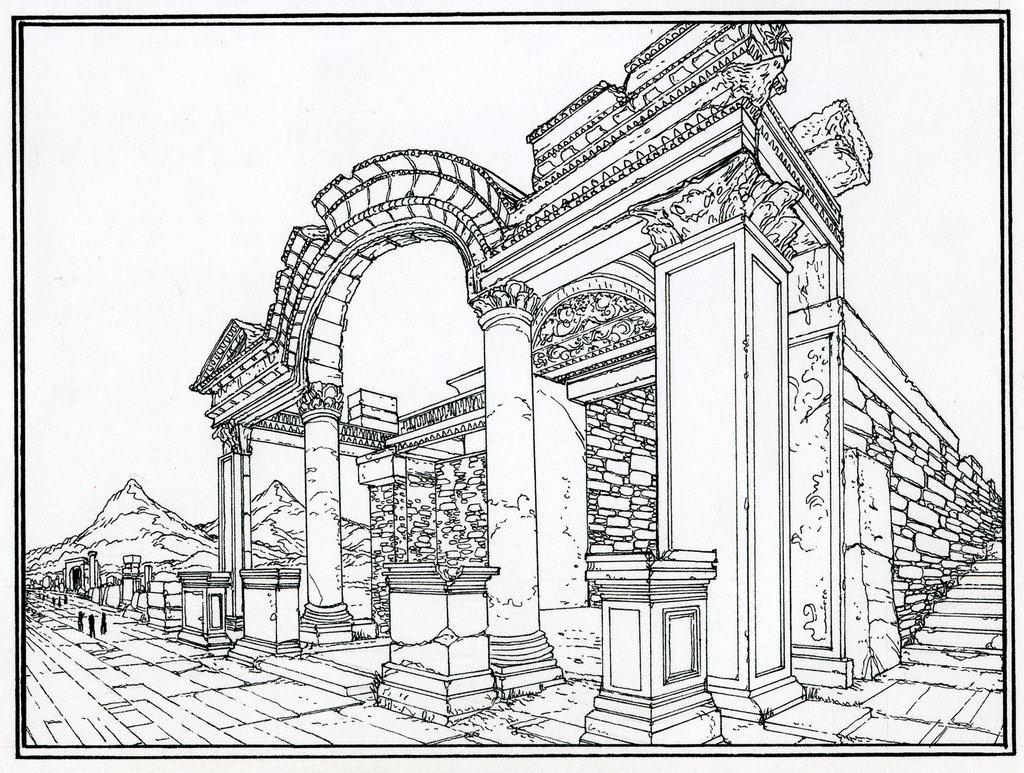 1024x773 Roman Ruins By Gregmayer