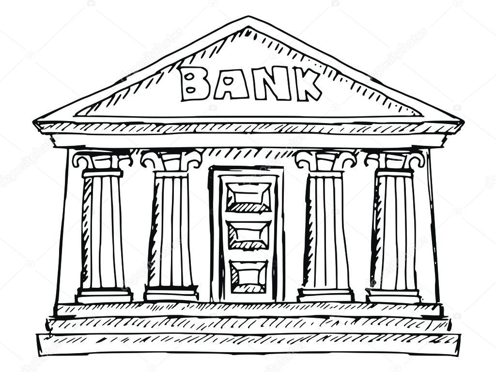 1024x768 Building Of Bank Stock Vector Perysty