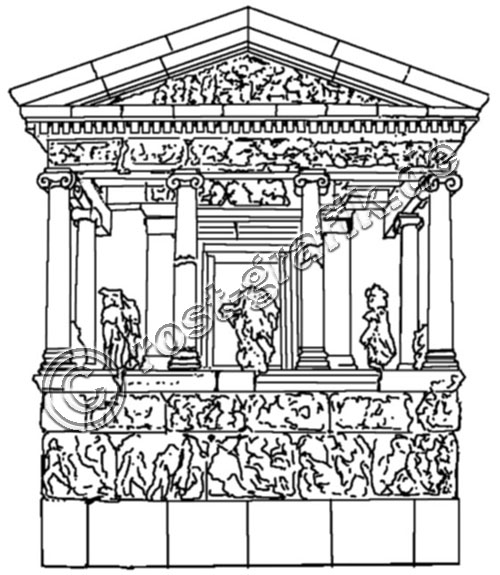 500x575 Clipart Of Architecture Ancient Greece Line Art Detail Classical