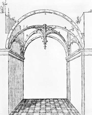 361x450 Pin Drawn Bulding Architectural Drawing 11. Santissima Annunziatta