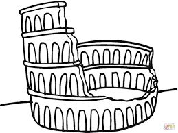Roman Colosseum Drawing