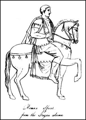 304x421 Picture Of Roman Officer From The Trojan Column. Horseman. Roman