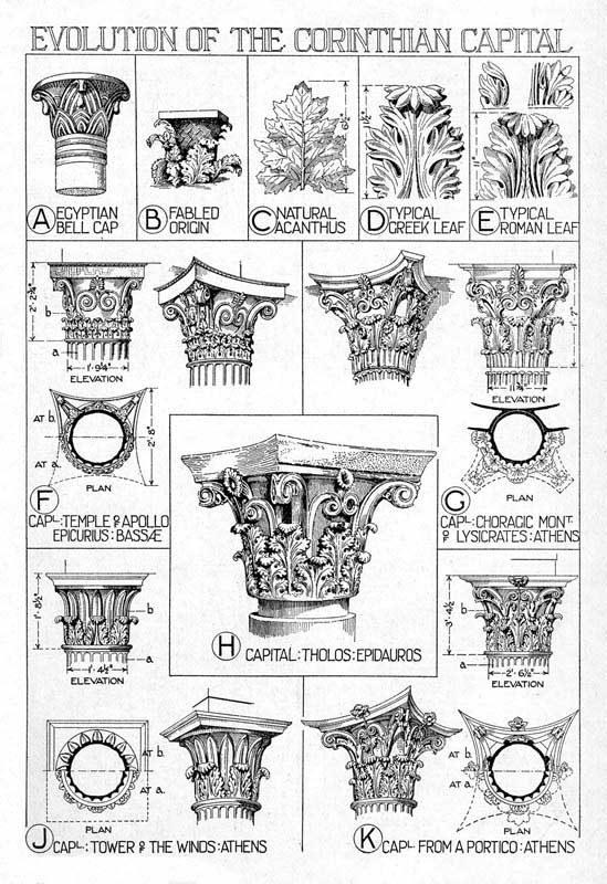 549x800 Architectural Orders Corinthian Order Reconstruction Details