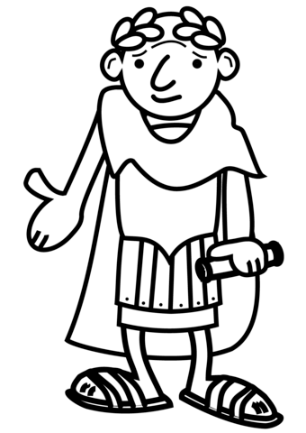 340x480 Cartoon Roman Emperor Coloring Page Free Printable Coloring Pages