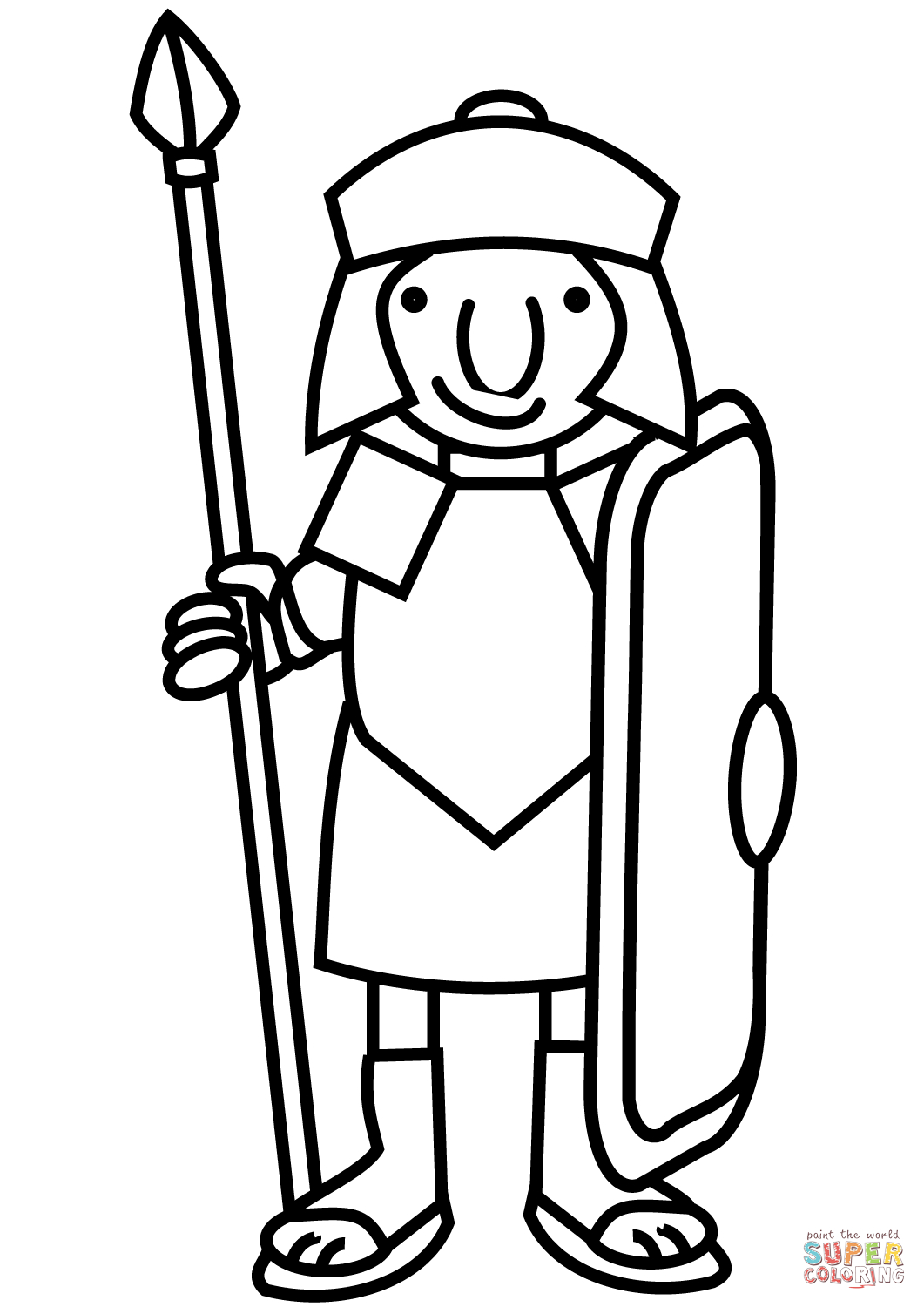 1061x1500 Cartoon Soldier Drawing Cartoon Roman Soldier Coloring Page Free
