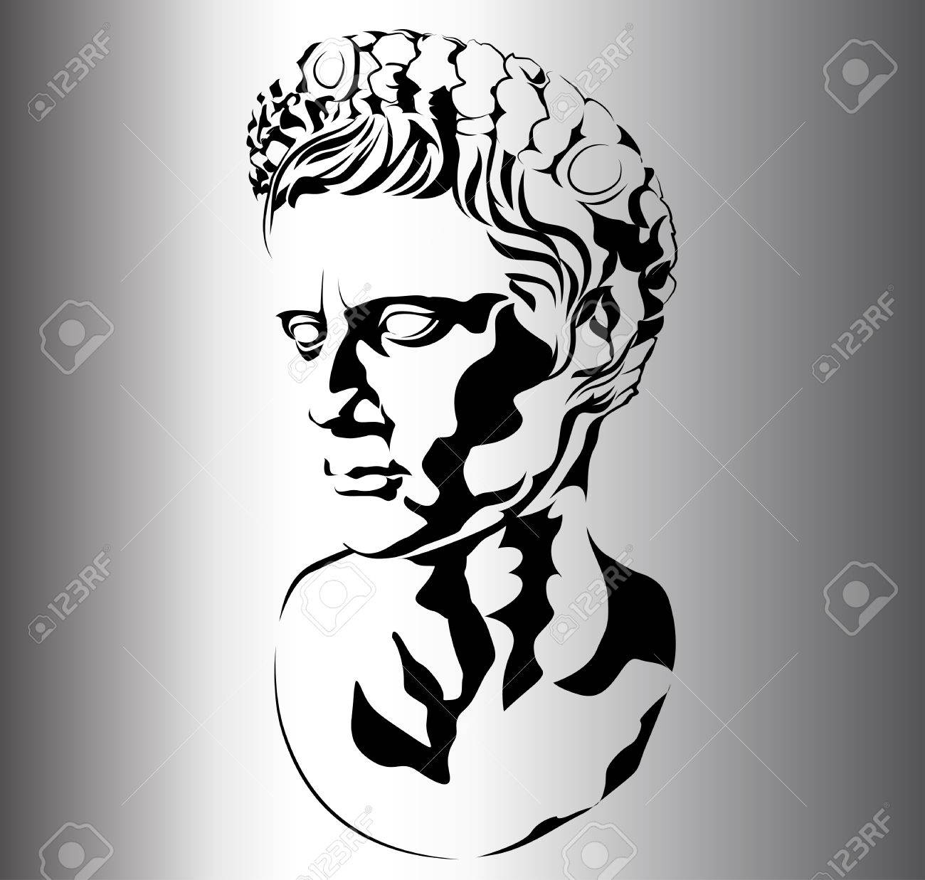 1300x1237 Roman Sculpture Of Augustus Royalty Free Cliparts, Vectors,