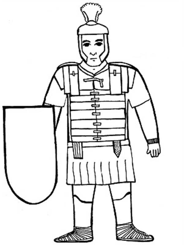 600x797 A Kids Drawing Of Ancient Rome Soldier Coloring Page