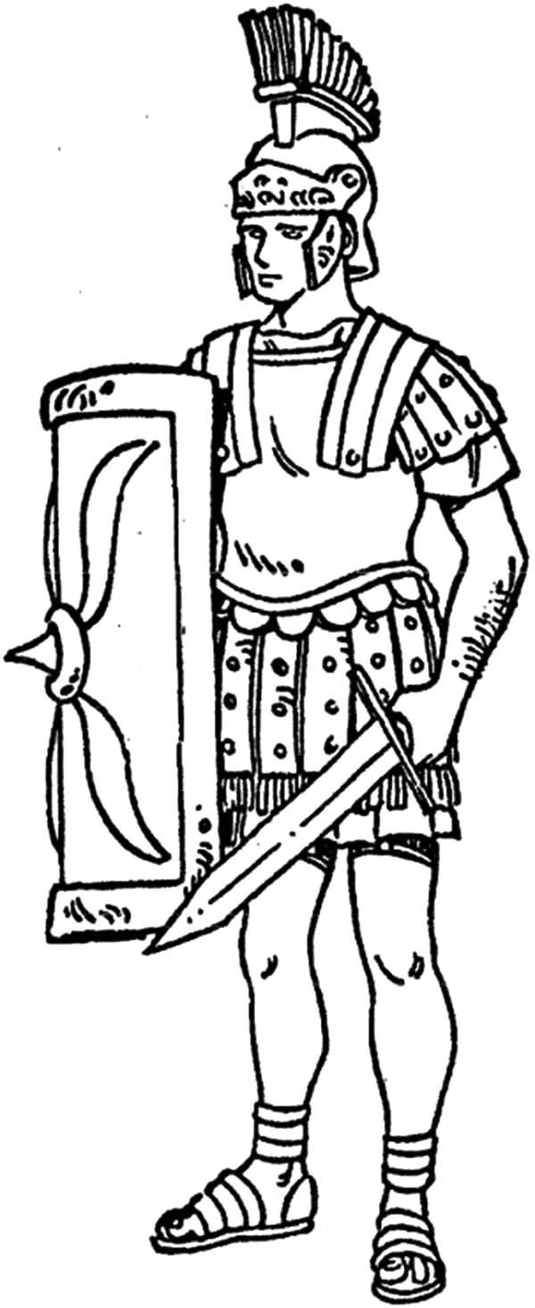 600x1466 Ancient Rome Colouring Pages Ancient Roman Soldiers Drawings