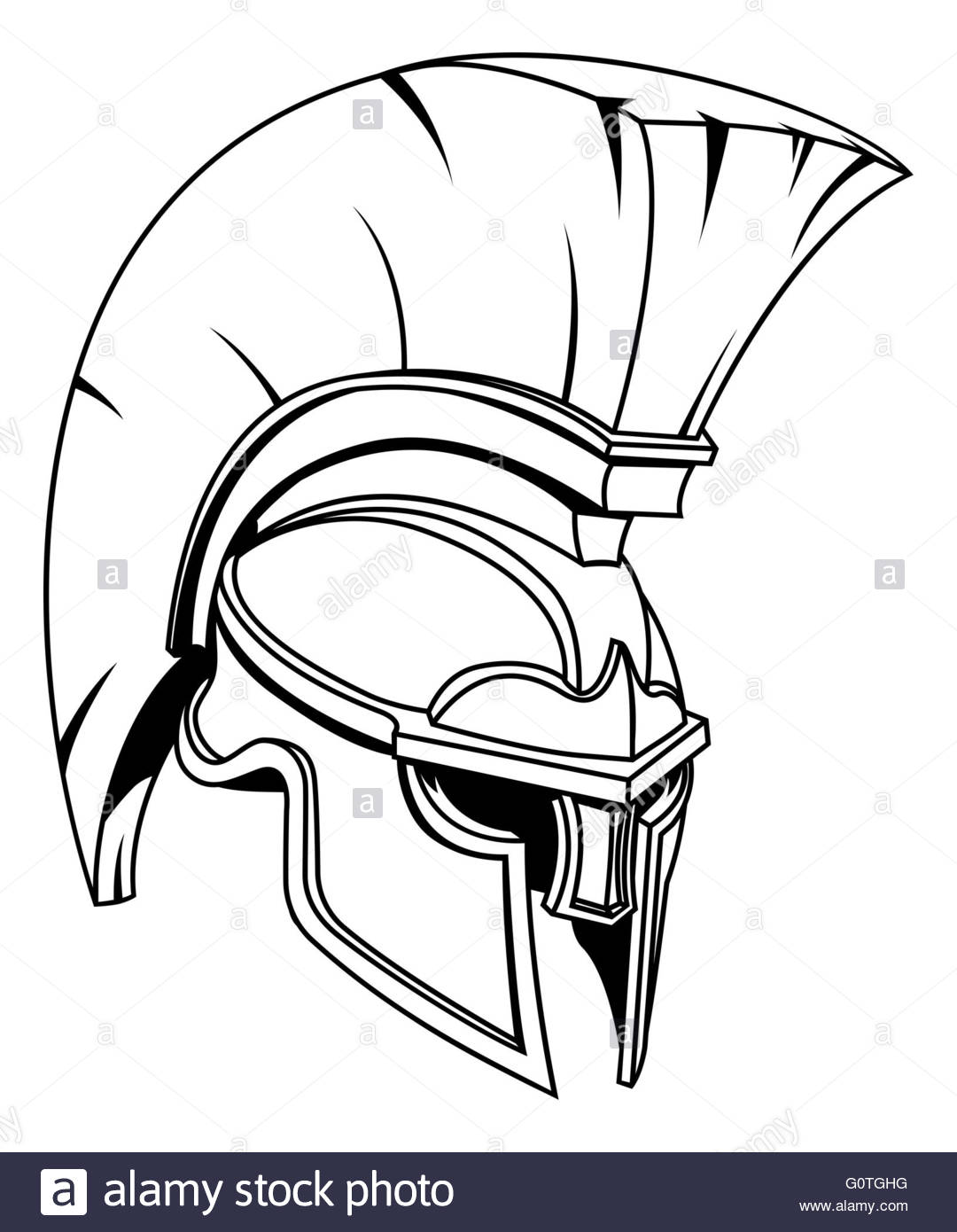 Roman Helmet Drawing