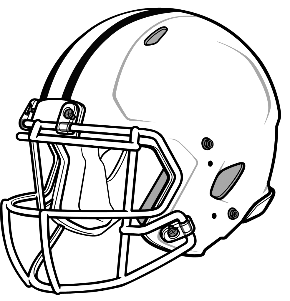 985x1023 Drawing Of A Helmet How To Draw A Football Helmet