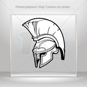 300x300 Stickers Decal Spartan Roman Helmet Car Atv Bike Garage Bike St5
