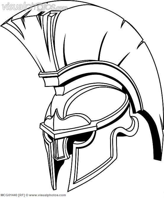 554x670 Trojan Helmet Mixed Media Trojan Helmet