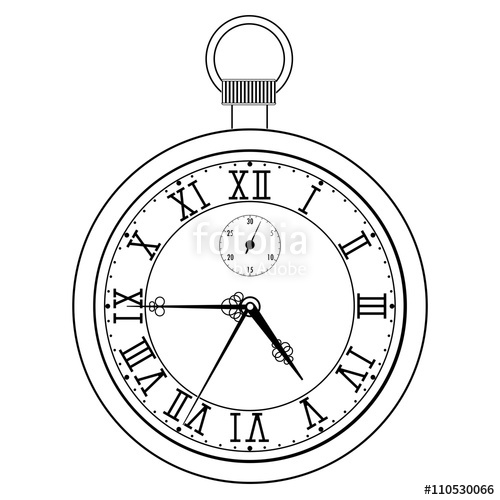 500x500 Pocket Watch With Roman Numerals Stock Image And Royalty Free