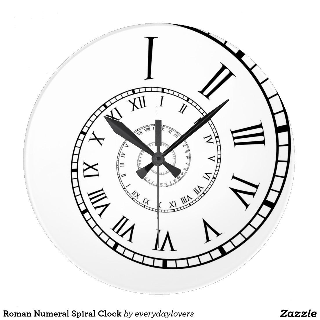 1104x1104 Roman Numeral Spiral Clock Spiral, Roman And Clocks