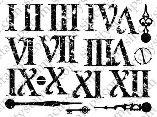 500x375 Roman Numerals Rubber Stamp Set