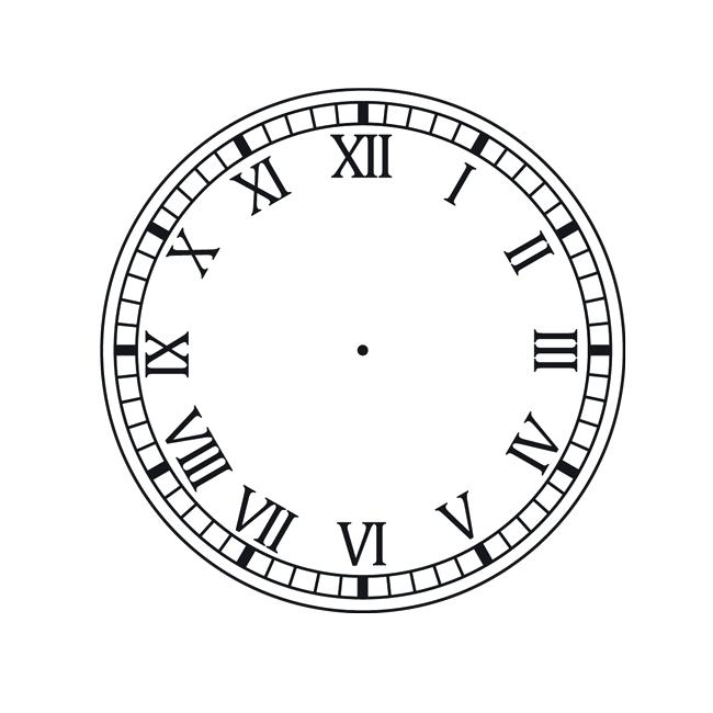 650x650 Wall Clocks With Roman Numerals Pin Drawn Clock Roman Numeral 9