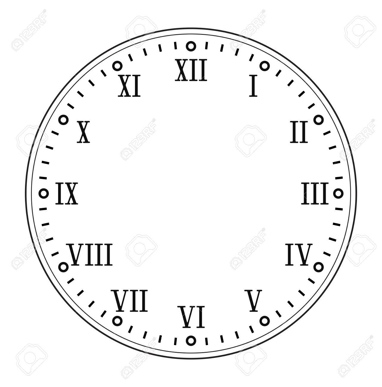 1282x1300 Clock Face With Roman Numerals Royalty Free Cliparts, Vectors,
