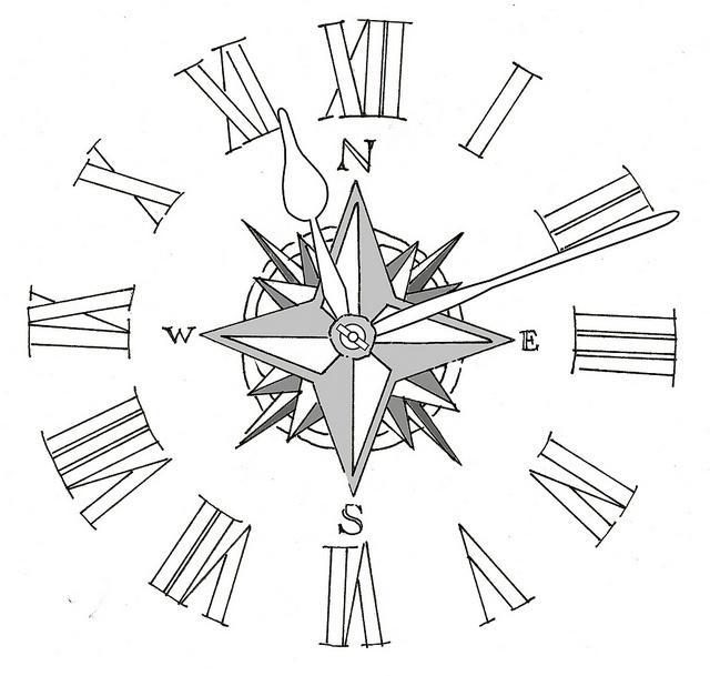 640x609 Compass Clock Tattoos Melting Clock Tattoo Drawing Fresh 2016