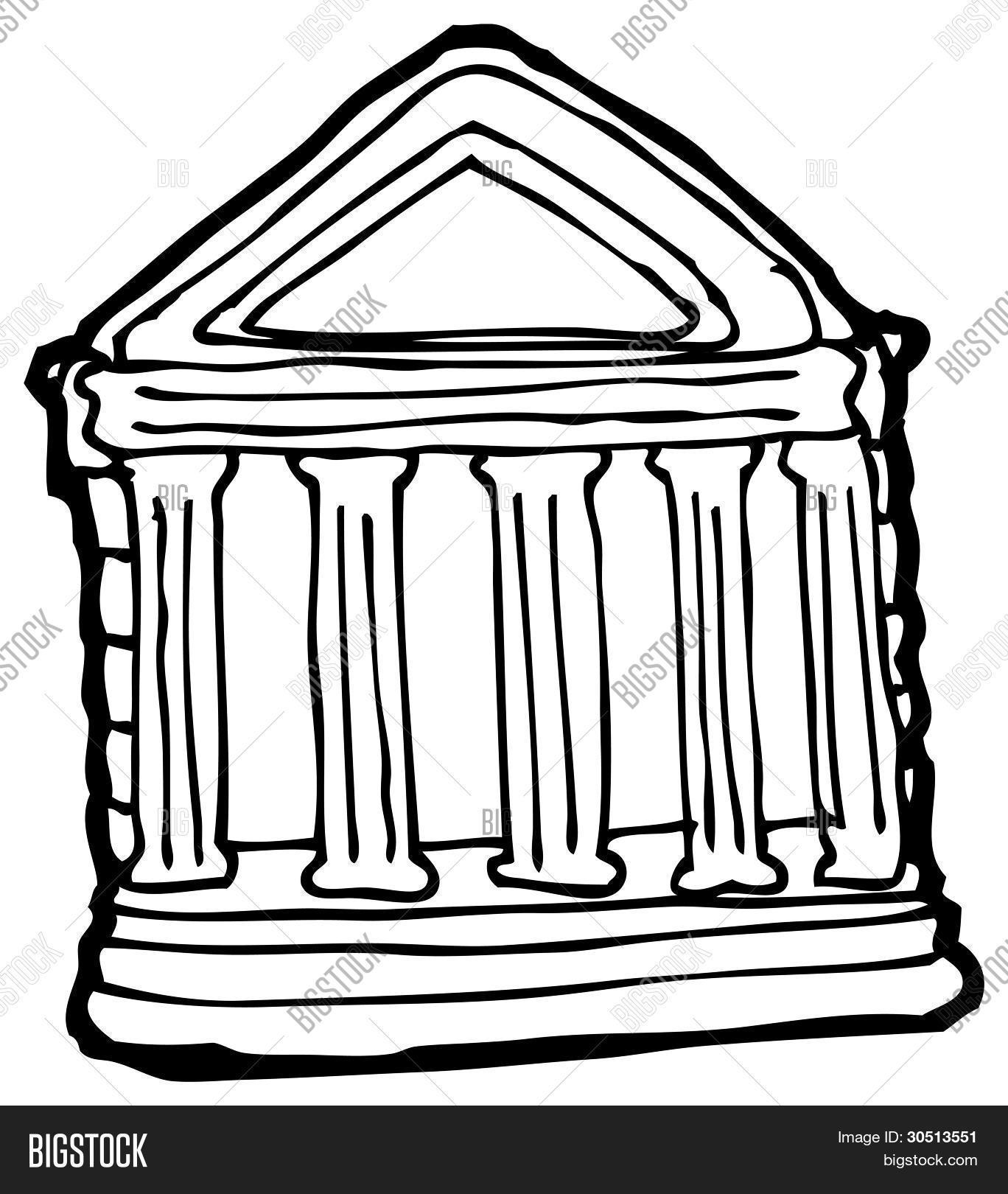 roman pillars drawing at getdrawings com