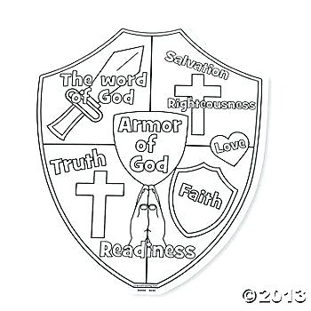 350x350 Excellent Shield Of Faith Coloring Page Best The Word Pages
