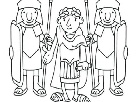 440x330 Roman Soldier Coloring Page. Roman Shield Coloring Page Free
