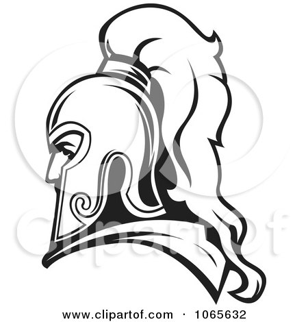 450x470 Clipart Of A Black And White Profiled German Soldier In A Peaked