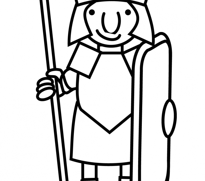 678x600 Roman Soldier Coloring Page Kids Coloring