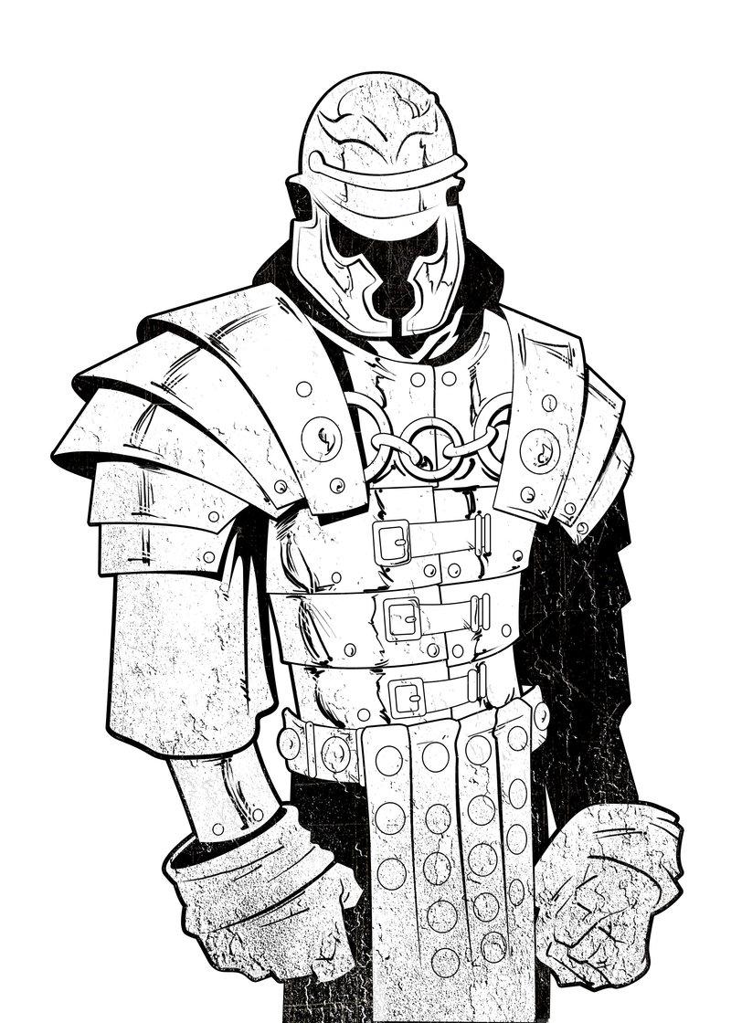 800x1120 Roman Soldier Inked By Gavinmichelli