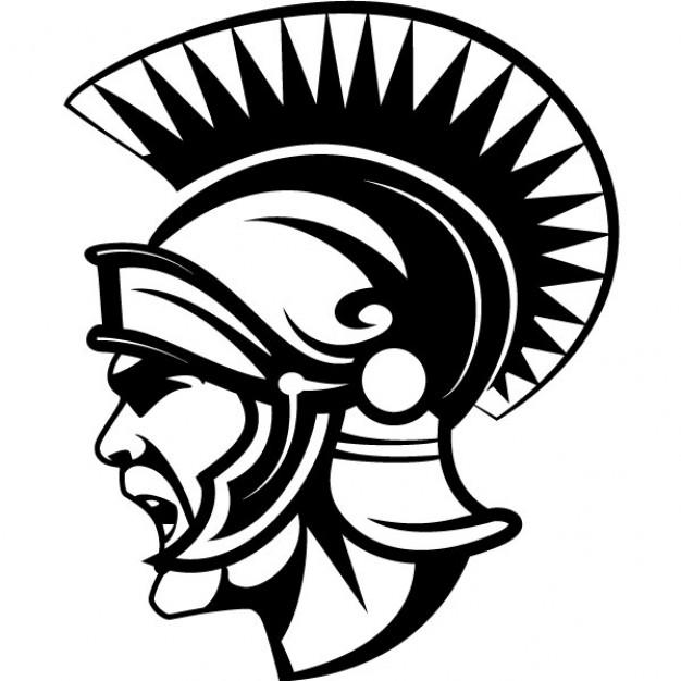 626x626 Ancient Roman Soldier With Helmet Vector Free Download