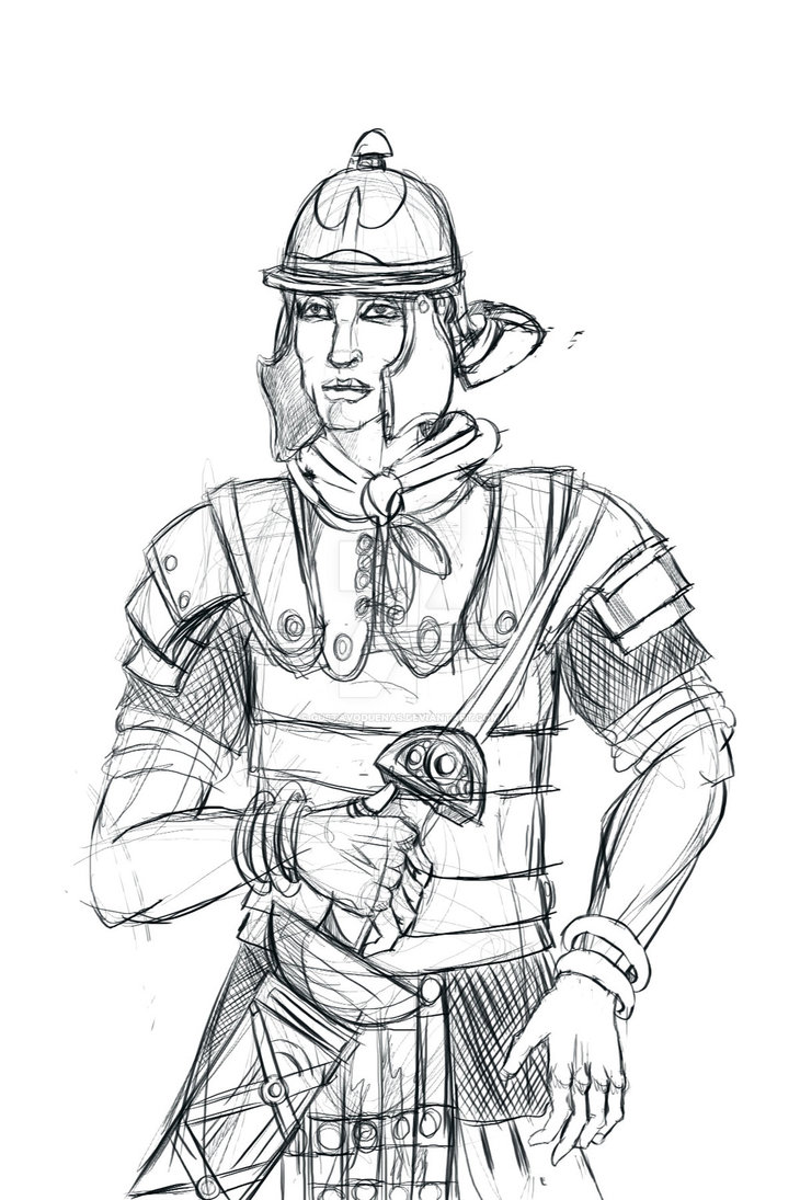 730x1095 Roman Soldier Sketch For The Beatitudes Comicbook By