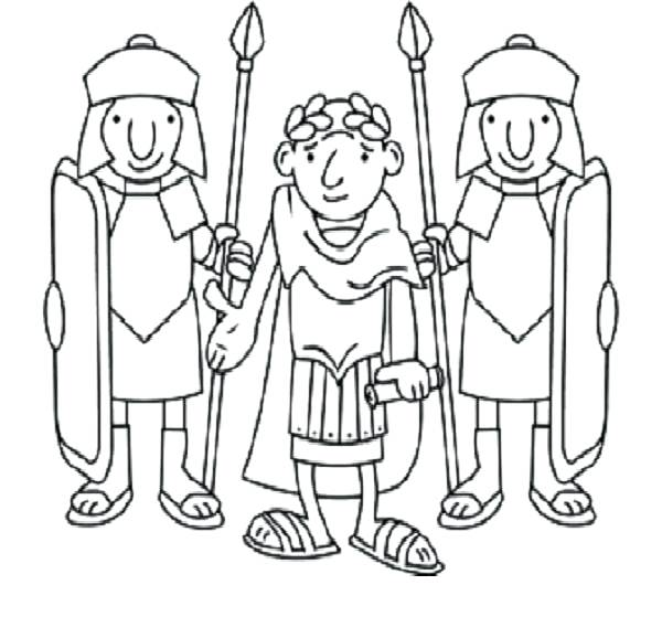 600x559 Roman Soldier Coloring Page
