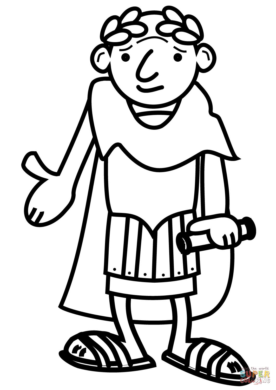 1062x1500 Cartoon Roman Emperor Coloring Page Free Printable Coloring