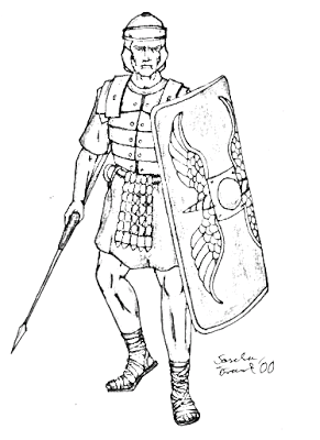 291x400 Roman Soldiers Coloring Pages