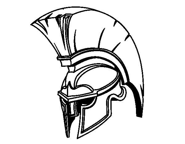 600x470 Roman Warrior Helmet Coloring Page