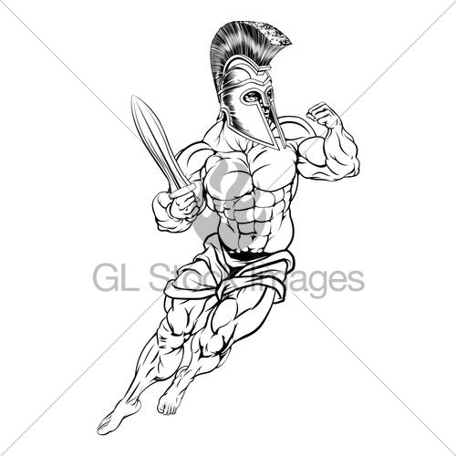 500x500 Roman Warrior Gl Stock Images